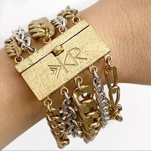 SILPADA KR mixed metal chunky chain bracelet.
